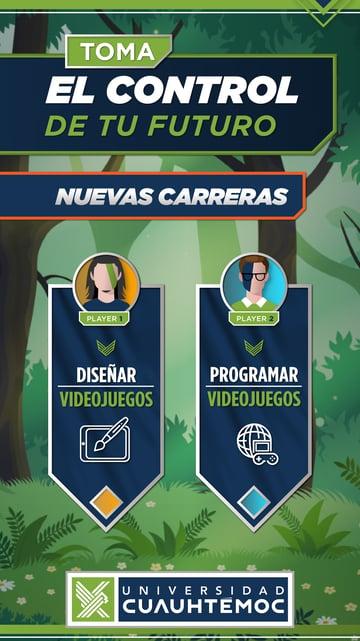 UCQ_NUEVAS CARRERAS VIDEOJUEGOS Bajadas digital 2020_INSTA STORY